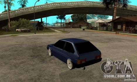 Lada VAZ 2108 para GTA San Andreas traseira esquerda vista
