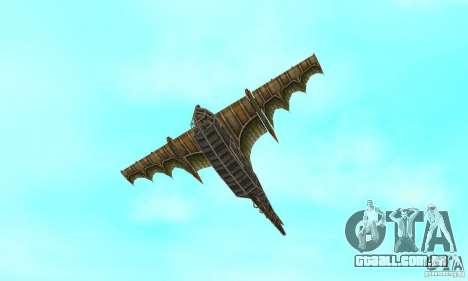 Belo avião de TimeShift para GTA San Andreas vista superior