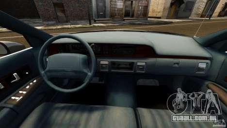 Chevrolet Caprice 1991 LCC Taxi para GTA 4 vista de volta