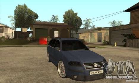 Volkswagen Passat B5.5 2.5TDI 4MOTION para GTA San Andreas vista traseira