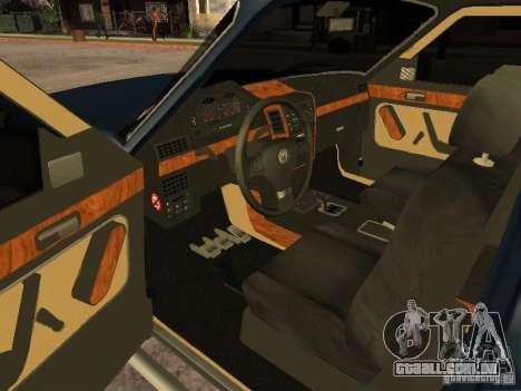 HD Columb para GTA San Andreas traseira esquerda vista