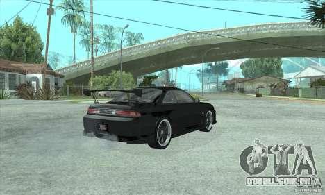 NISSAN SILVIA S14 CHARGESPEED FROM JUICED 2 para GTA San Andreas traseira esquerda vista