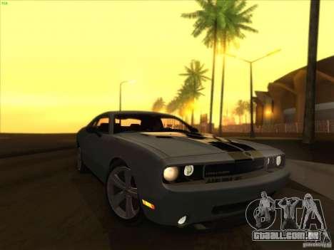 SGR ENB Settings para GTA San Andreas por diante tela