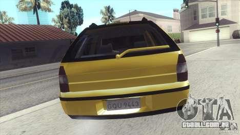 Fiat Palio Weekend 1997 para GTA San Andreas esquerda vista
