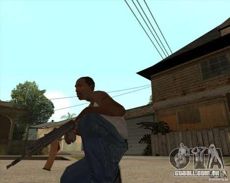 AK74U para GTA San Andreas segunda tela