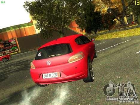 Volkswagen Scirocco 2009 para GTA San Andreas vista interior
