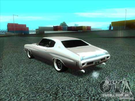 Chevrolet Chevelle SS Domenic from FnF 4 para GTA San Andreas esquerda vista