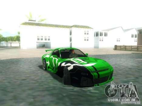 Mazda RX7 para GTA San Andreas vista direita