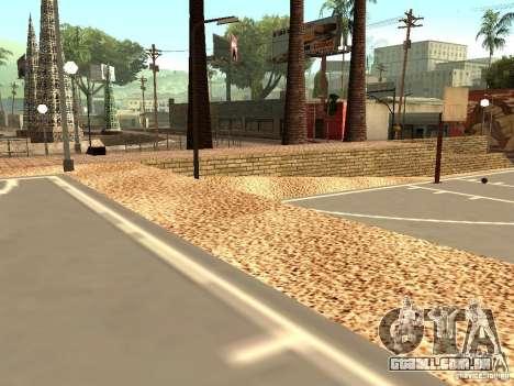 A nova quadra de basquete em Los Santos para GTA San Andreas por diante tela