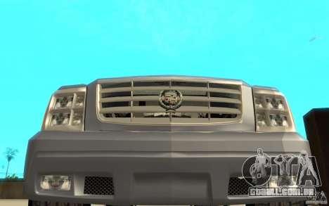 Cadillac Escalade para GTA San Andreas vista superior