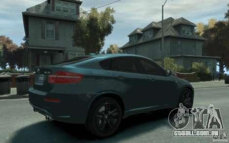 BMW X6-M 2010 para GTA 4 vista direita