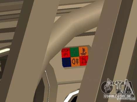 2105 VAZ, v. 2 para GTA San Andreas vista traseira
