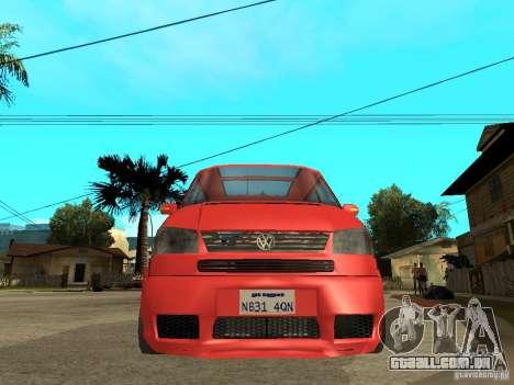 VW T4 Eurovan VR6 BiTurbo 20T para GTA San Andreas vista direita