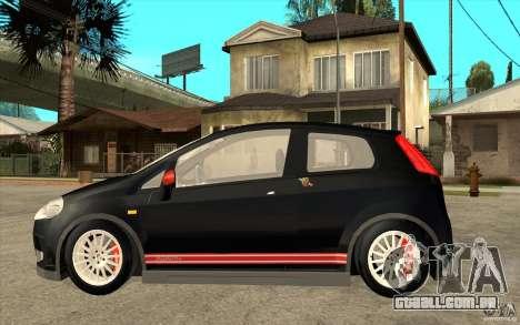 Fiat Grande Punto 3.0 Abarth para GTA San Andreas esquerda vista
