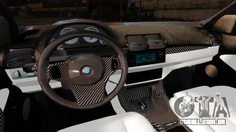 BMW X5 4.8IS BAKU para GTA 4 vista de volta