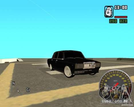 VAZ 2107 DuB para GTA San Andreas vista direita