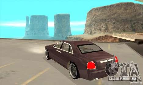 Rolls-Royce Ghost 2010 para GTA San Andreas traseira esquerda vista