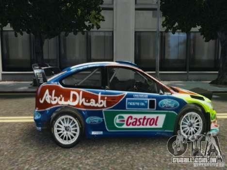 Ford Focus RS WRC para GTA 4 traseira esquerda vista