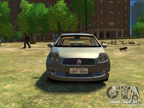 Fiat Linea para GTA 4 vista de volta