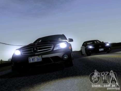 Mercedes-Benz C63 AMG 2010 para GTA San Andreas vista traseira