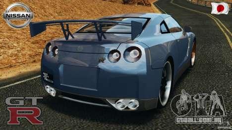 Nissan GT-R 35 rEACT v1.0 para GTA 4 traseira esquerda vista
