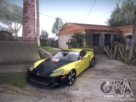 Chevrolet Corvette C6 Z06 Tuning para GTA San Andreas vista interior