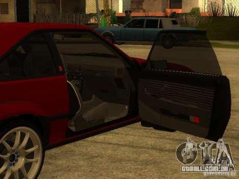 Toyota Celica Supra para GTA San Andreas interior