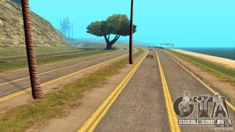 New HQ Roads para GTA San Andreas por diante tela