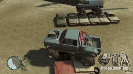 Bobcat megatruck 1.0 para GTA 4 vista de volta