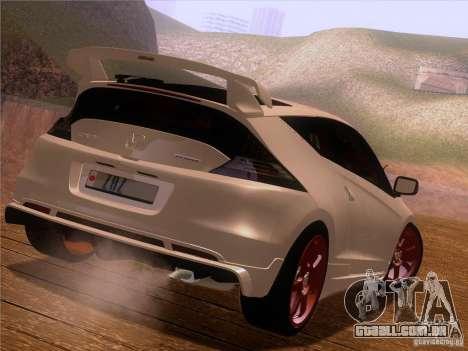 Honda CR-Z Mugen 2011 V2.0 para vista lateral GTA San Andreas