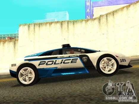 Lamborghini Murcielago LP640 Police V1.0 para GTA San Andreas esquerda vista