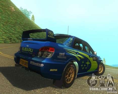 Subaru Impreza WRX STI DIRT 2 para GTA San Andreas vista direita