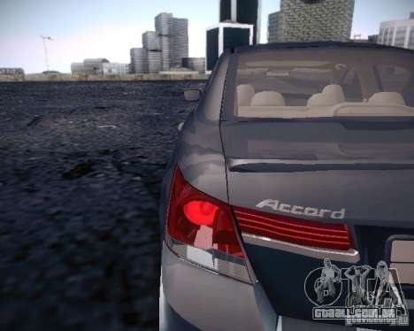 Honda Accord 2011 para GTA San Andreas vista traseira