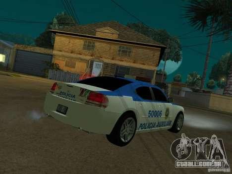 Dodge Charger Police para GTA San Andreas traseira esquerda vista