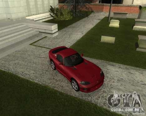 Dodge Viper GTS Coupe para GTA San Andreas esquerda vista