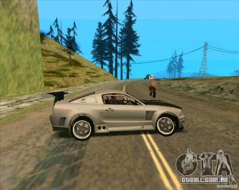 Ford Mustang GTR para GTA San Andreas esquerda vista