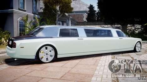 Rolls Royce Phantom Sapphire Limousine Disco para GTA 4 esquerda vista