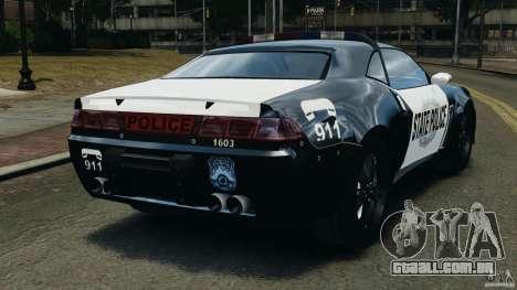 NFSOL State Police Car para GTA 4 traseira esquerda vista