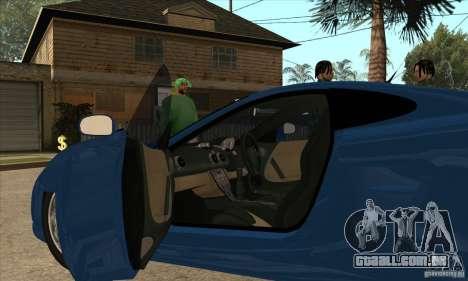 Ascari KZ1 para GTA San Andreas vista interior