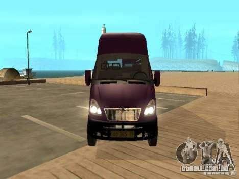 Táxi de gazela 32213 para GTA San Andreas vista direita