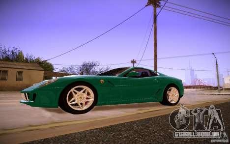 Ferrari 599 GTB Fiorano 2010 para GTA San Andreas traseira esquerda vista