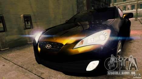 Hyundai Genesis Coupe 2010 para GTA 4 traseira esquerda vista