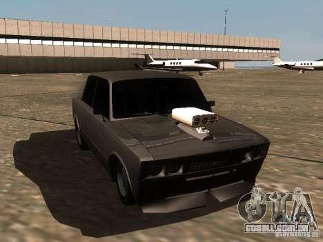 VAZ 2106 Drag Racing para GTA San Andreas vista interior