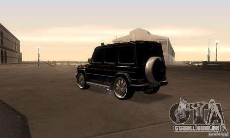 Mercedes Benz G500 ART FBI para GTA San Andreas traseira esquerda vista