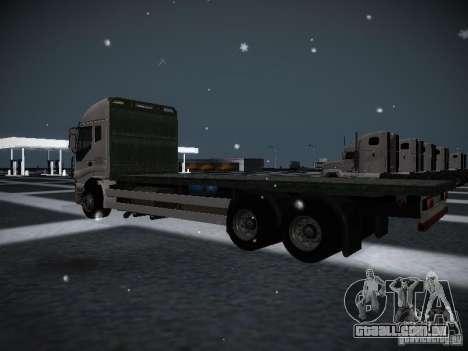 Iveco Stralis Long Truck para GTA San Andreas traseira esquerda vista