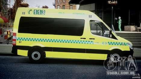 Mercedes-Benz Sprinter PK731 Ambulance [ELS] para GTA 4 vista interior