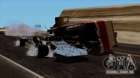 Virar para fora do carro de Furious 6 para GTA San Andreas vista superior