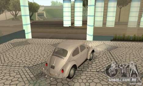 Volkswagen Beetle 1963 para GTA San Andreas esquerda vista