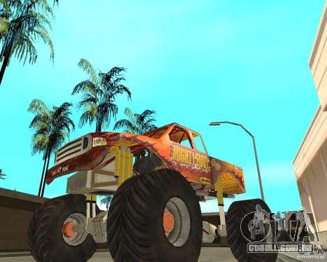 Mighty Foot para GTA San Andreas traseira esquerda vista