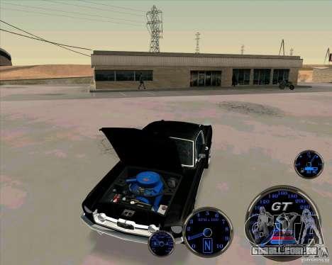 Ford Mustang Fastback para GTA San Andreas vista direita